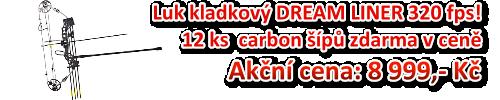 Luk kladkový DREAM LINER 320 fps! 12 ks carbon šípů zdarma v ceně za 8 999,- Kč