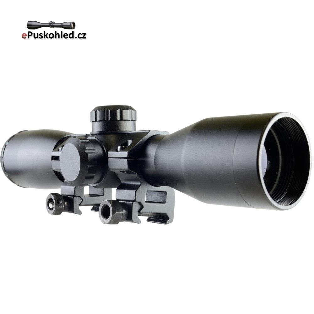 Puškohled BSW MaxDistance 4x32 nasvětlený