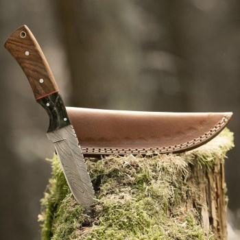 eltoro-walnut-horn-damast-jagdmesser-10cm-inkl-lederscheide