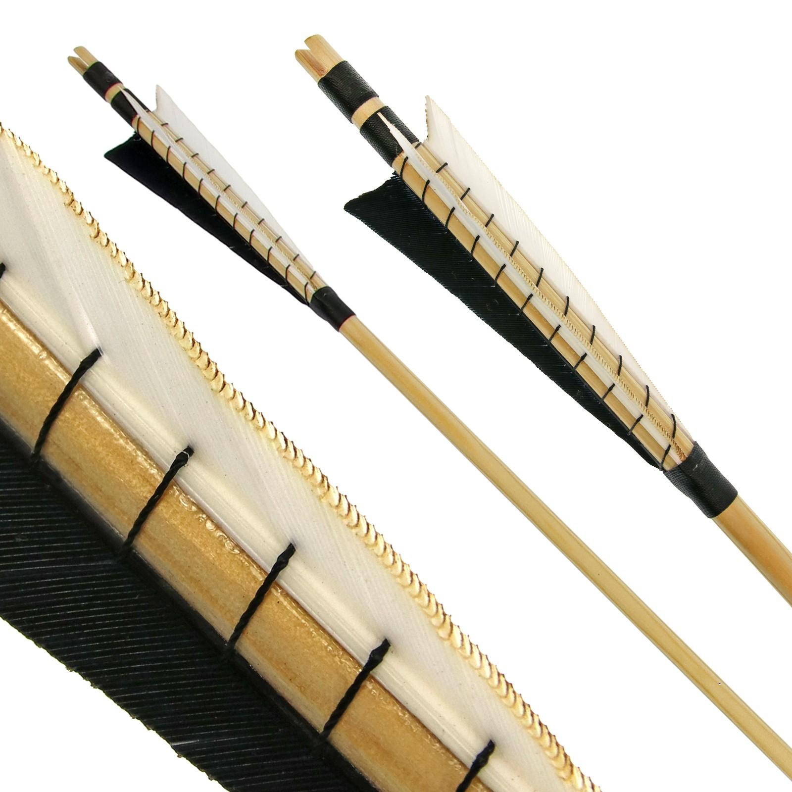 Dřevěný středověký šíp DRAKE 11/32 palců - 24-32 palců