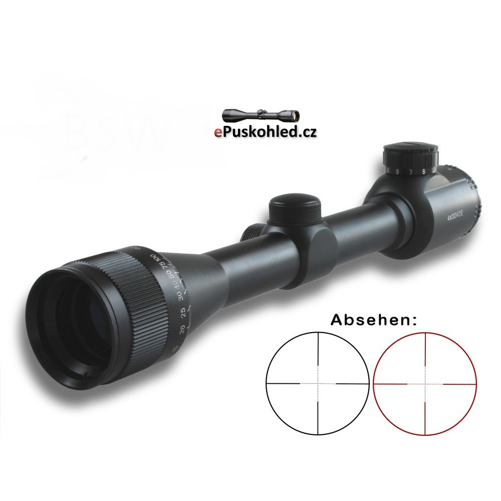 Puškohled  X-Scope 4x32mm AOE, paralaksa